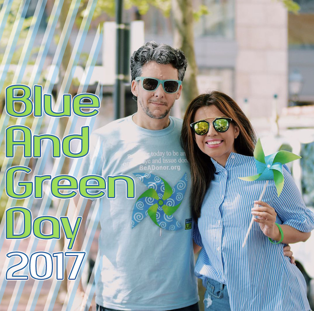 Blue and Green Day 2017-Done Vida-Donate Life America-Mari Estilo- ArmandHugon- Festival Por La Vida-celebra la vida