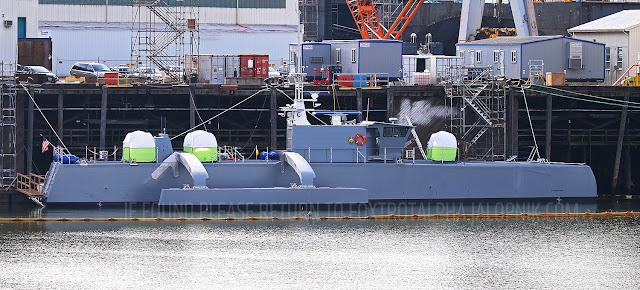 DARPA robotic sub hunting ship debuts