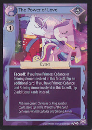 MLP The Power of Love The Crystal Games CCG Card