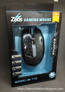 zeus gaming mouse m110 front box packaging
