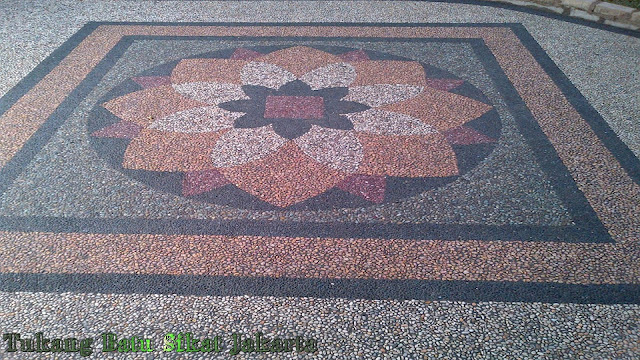 Koleksi Foto Gambar Carport Batu Sikat Motif Bunga