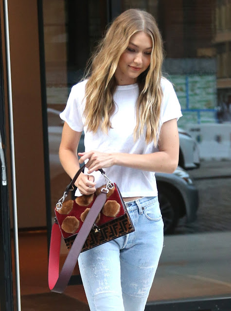 Gigi Hadid Spotted With Fendi Kan I Bag from Fall 2017-18 Collection