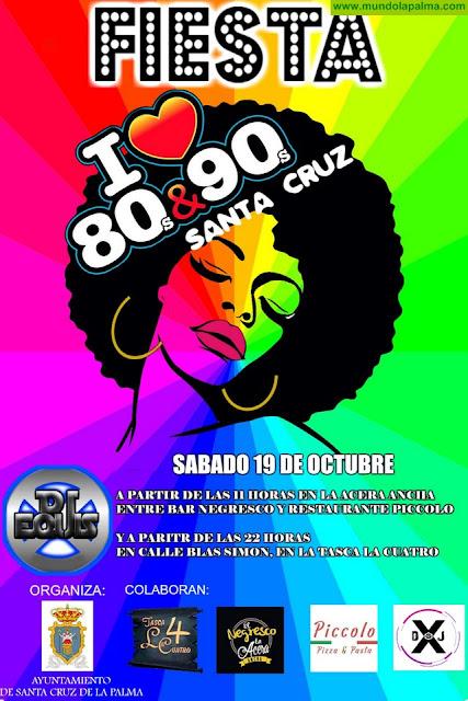 La Concejalía de Fiestas organiza una fiesta de los años 80 y 90 para este sábado en Santa Cruz de La Palma