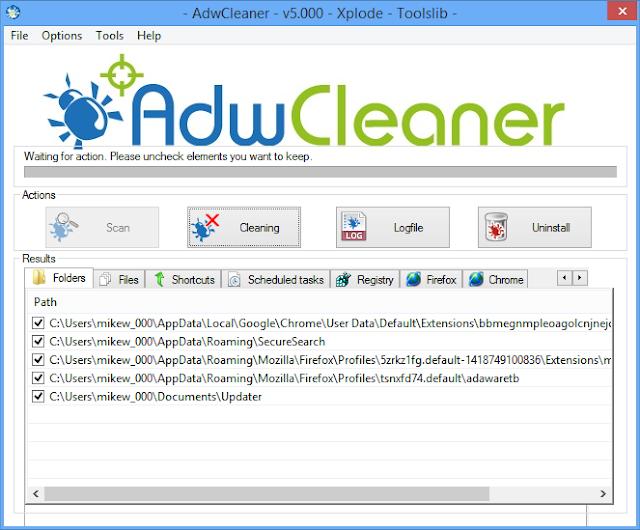 AdwCleaner 5.108 Pembersih Malware Iklan Yang mengganggu adsmalware