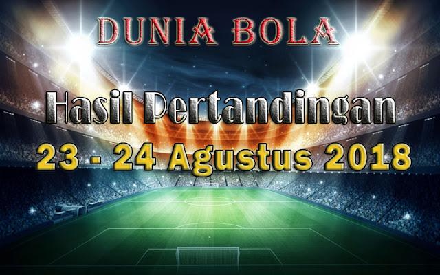 Hasil Pertandingan Sepak Bola Tanggal 23 - 24 Agustus 2018