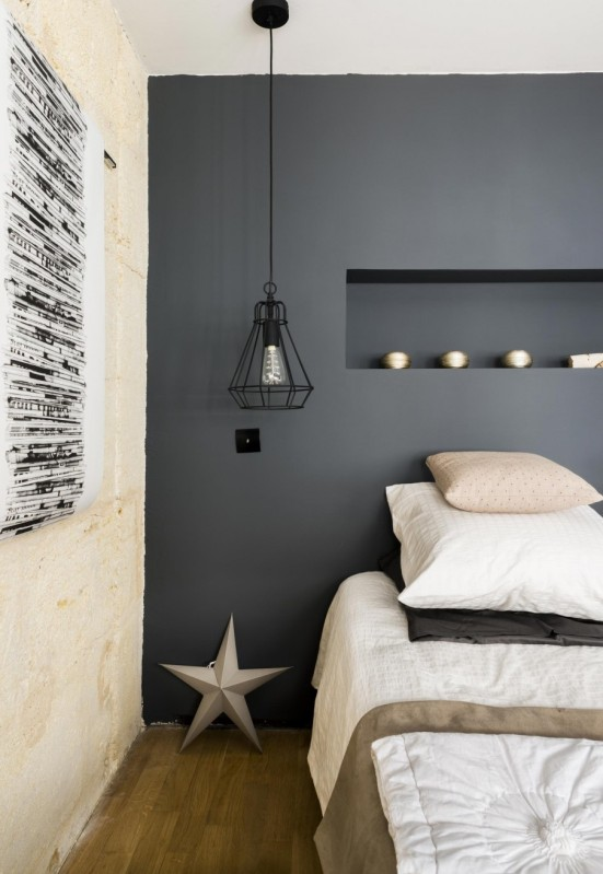 dormitorio decoración vintage industrial