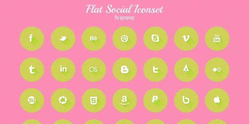 Free Flat Social Pack