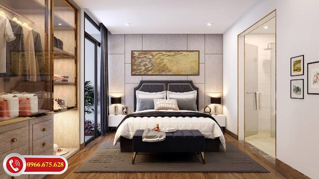 Phòng ngủ Master dự án Amber Riverside Minh Khai