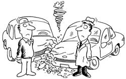 Car Accident: Car Accident Cartoon Clip Art