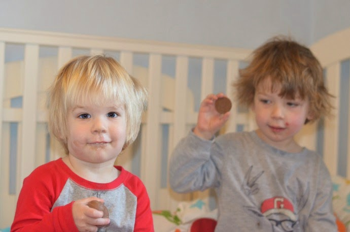messy Christmas faces, Chocolate and toddlers