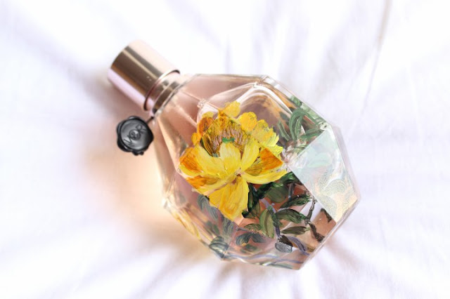 Hand Painted Viktor and Rolf Flowerbomb Bottles