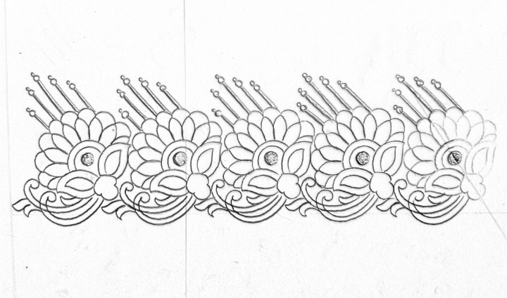 How To Draw An Easy Saree Border Design For Embroiderysaadi