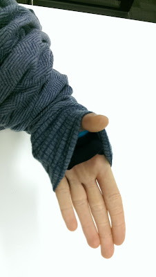 cuff and thumbhole detail on my Nike-style hoodie