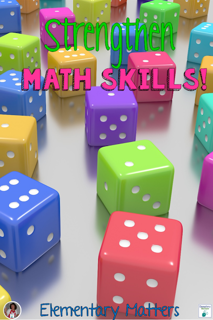 Strengthen Math Skills - Some information about how games strengthen math skills, and ideas for games, including a freebie!
