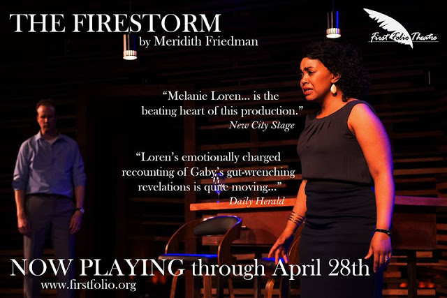 GIVEAWAY: WIN 4 Tickets ($176) for THE FIRESTORM Via First Folio Theatre through April 28, 2019