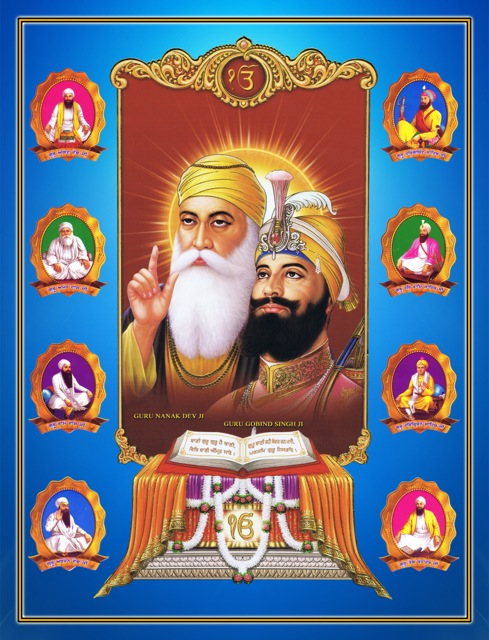 TEN GURUS SAHIBAAN AND SHREE GURU GRANTH SAHIB JI