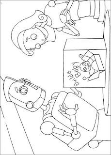Ausmalbilder Robot zum Ausdrucken