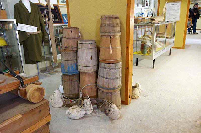 wooden bucket display