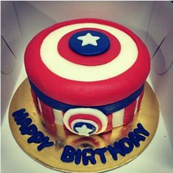 Kue Ulang Tahun Kapten Amerika