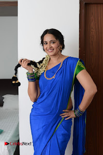 Anushka Shetty Stills in Blue Half Saree from Sokkali Mainar Movie Stills  0002.jpg