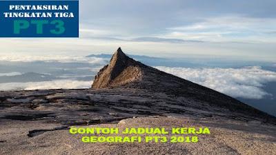 Contoh Jadual Kerja Geografi PT3 2018 (Folio)