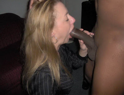 Old milf sucking black cock