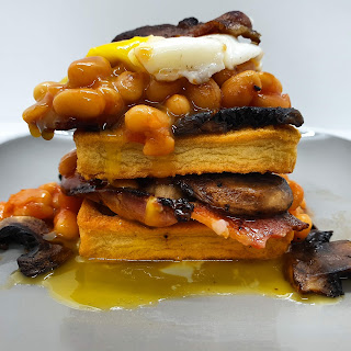 Bacon & Potato Waffle Breakfast Stack Recipe slimming world breakfast