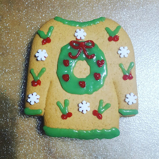 A Wreath Gingerbread Christmas Cookie Sweater