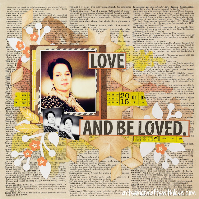 Scrapbooking layout using Sketchabilities sketch #147: Love and be loved