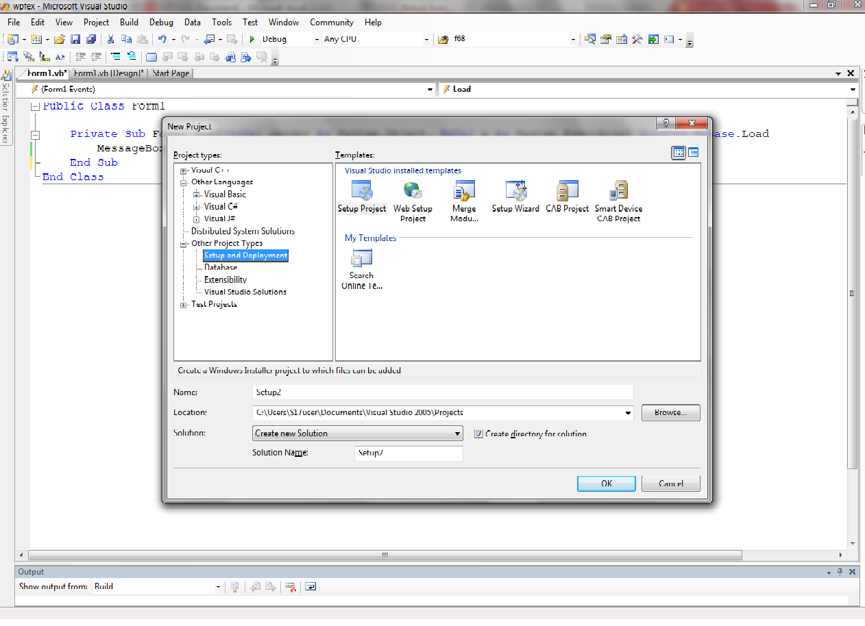 create exe installer visual studio