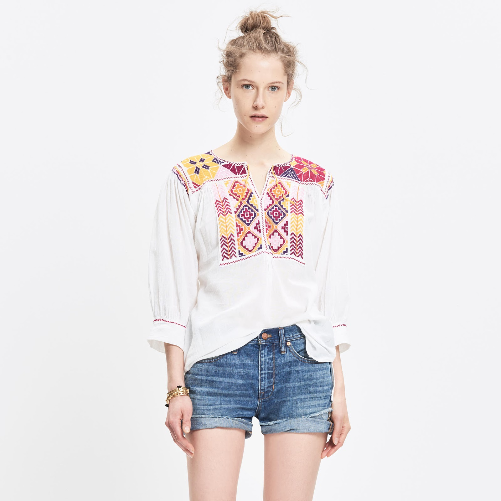 JM Drygoods embroidered san vicente top