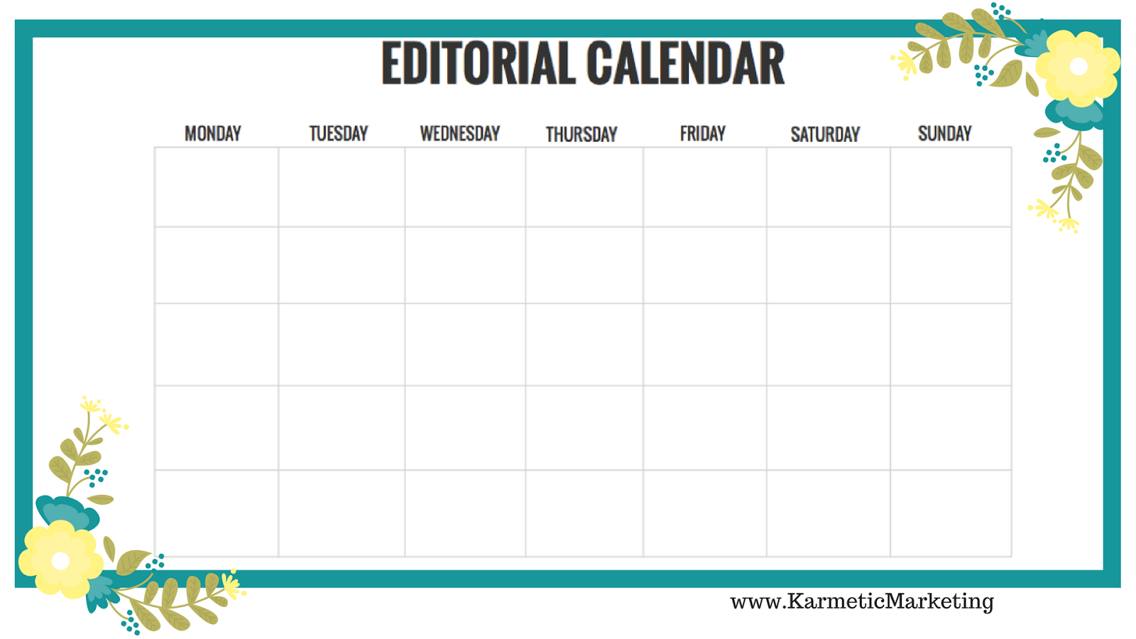 karmetic marketing how to fill your november editorial calendar
