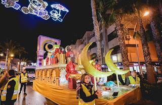Horario e Itinerario de la Cabalgata de los Reyes Magos de Roquetas de Mar (Almería) 2019
