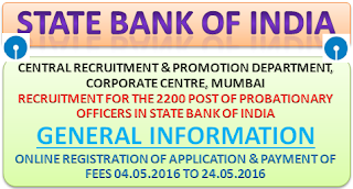 sbi+po+recruitment+2016+general+information