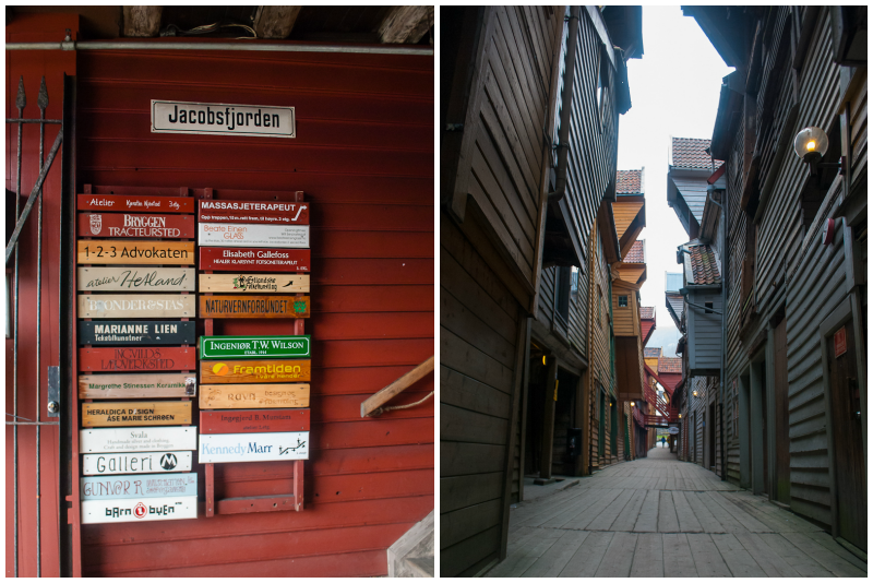 Old wooden houses in bergen