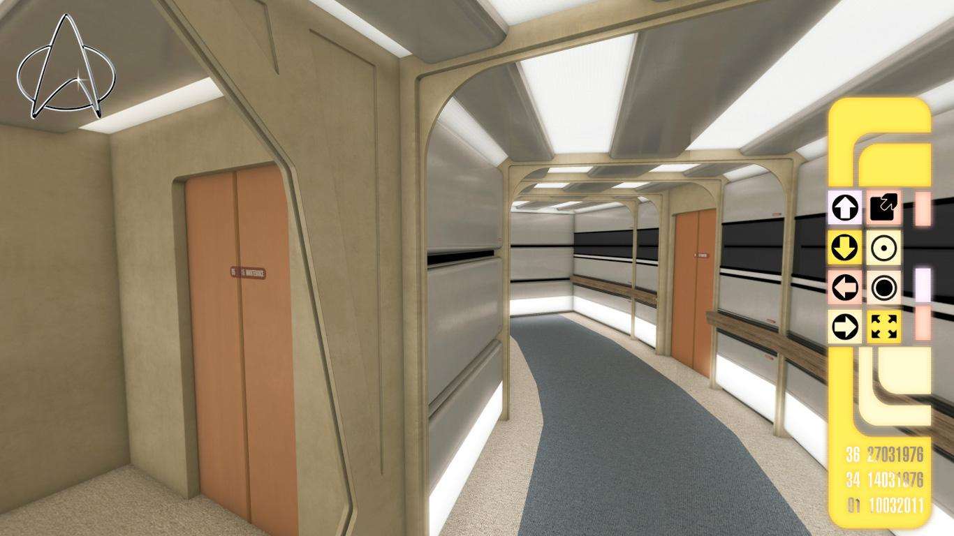 Rigel 7 Studios: Refit Enterprise Corridors | Star Trek ... |Uss Enterprise Corridors