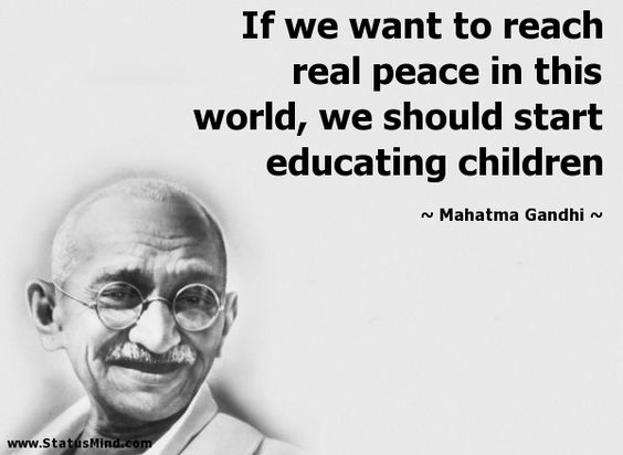 mahatma gandhi quotes about education learning and responsibility