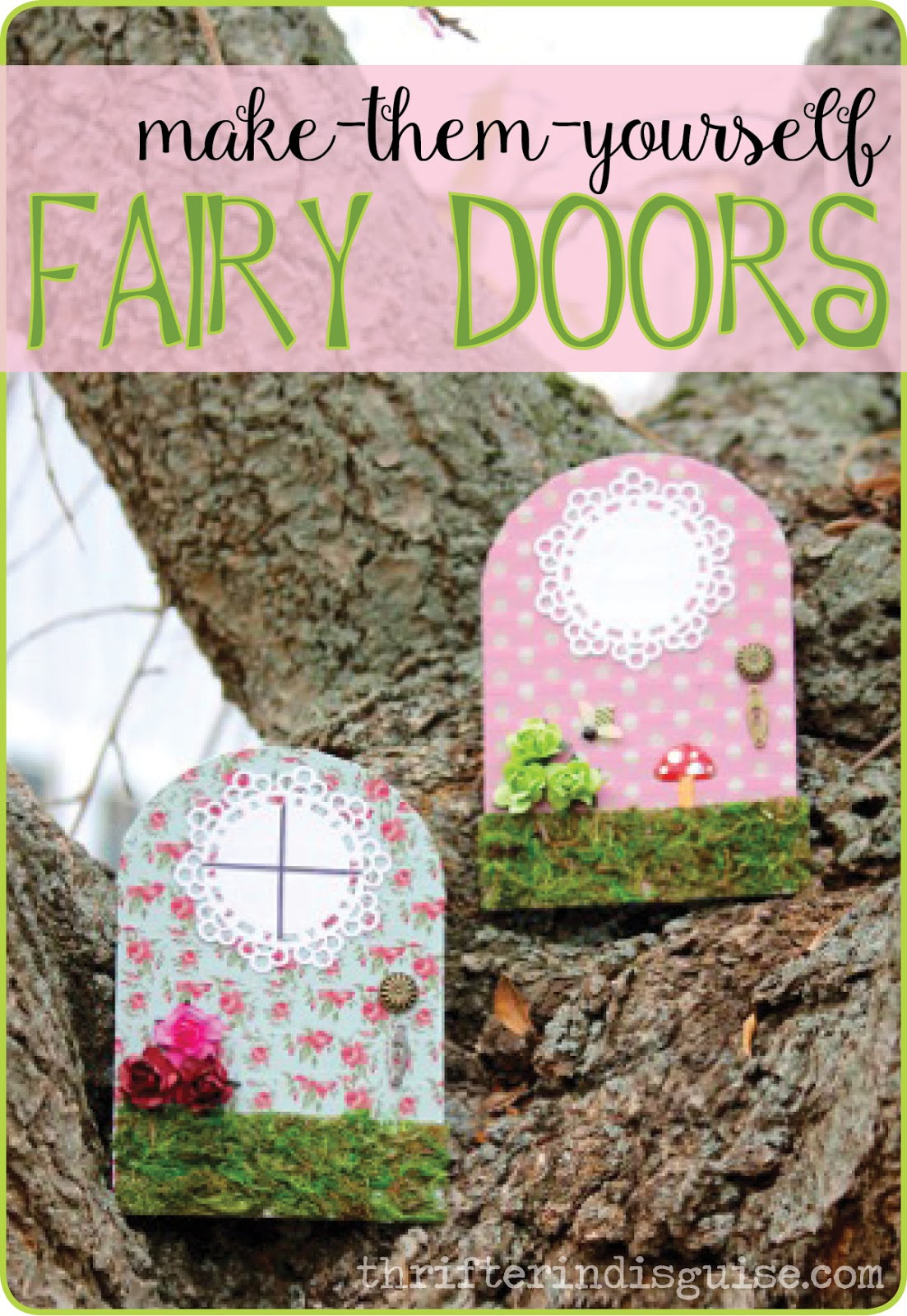 A Thrifter in Disguise: DIY Fairy Door Tutorial