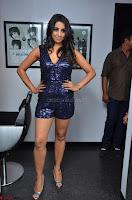 Sanjana looks happy in sparkling short Deep neck Purple Gown ~  Exclusive 61.JPG