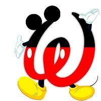 Original alfabeto inspirado en Mickey Mouse W.