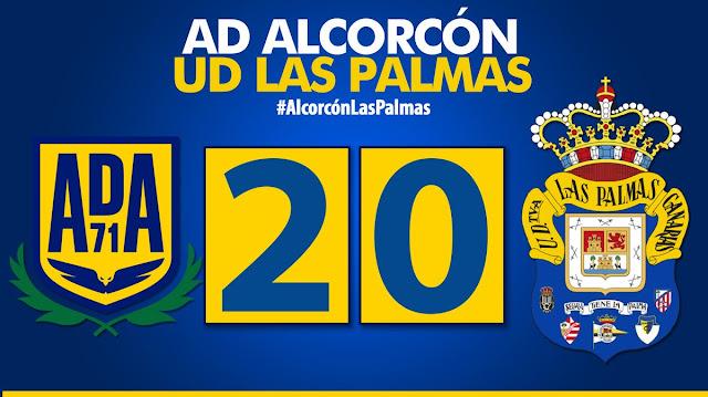 Marcador final AD Alcorcón 2-0 UD Las Palmas