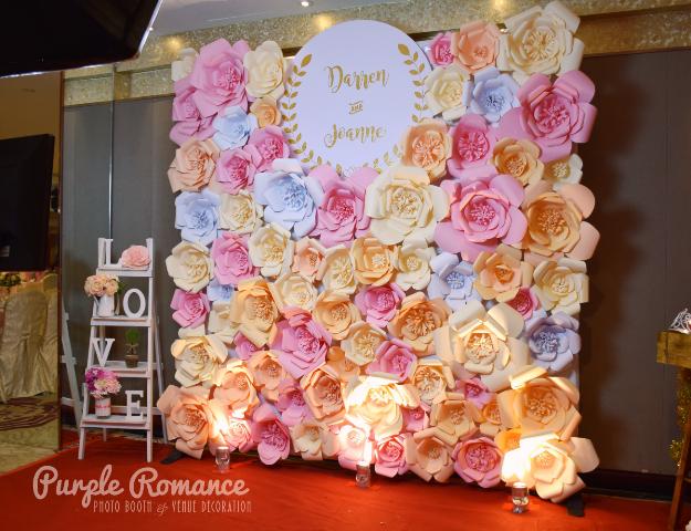 Giant Paper Flower Backdrop At Hee Lai Ton Kuala Lumpur