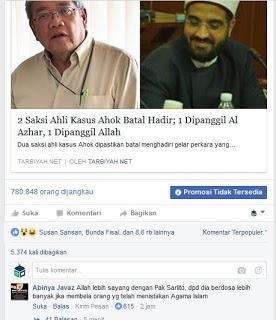 Heboh Tulisan Terakhir Prof Sarlito tentang Ahok, Netizen: Allah Sayang Beliau