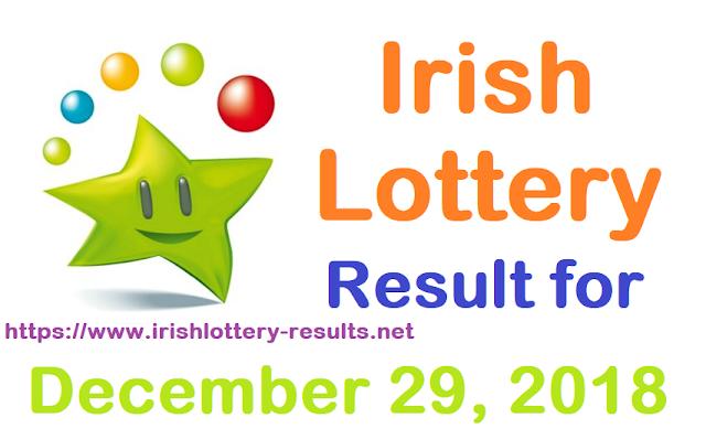 Irish Lottery Result for Saturday, 29 December 2018