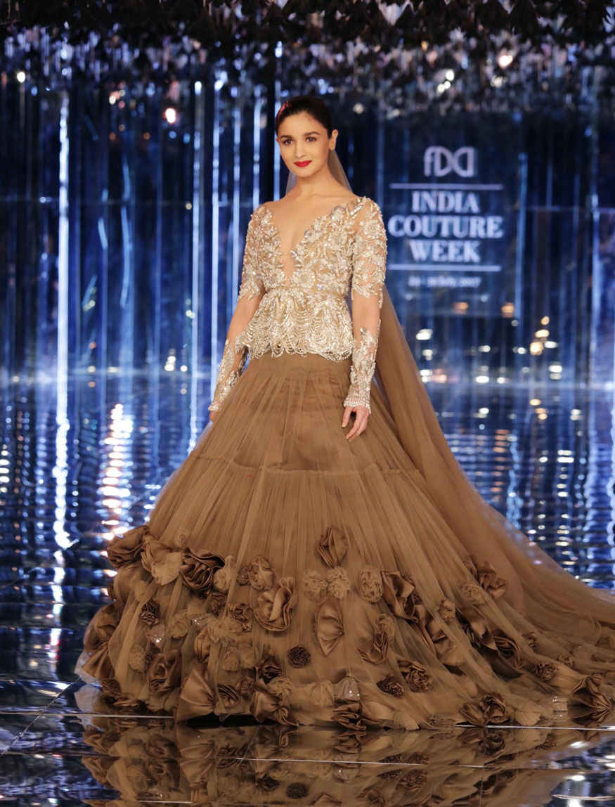 Alia Bhatt at India Couture Week 2017 Stunning Stills