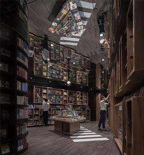 Green Pear Diaries, interiorismo, interior design, retail, Librería Zhongshuge, Shanghai