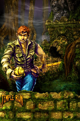 Grafică promoţională pentru jocul android Temple Run