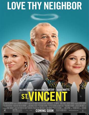 Poster Of St. Vincent 2014 Dual Audio 720p BRRip [Hindi - English] - UNCUT Free Download Watch Online Worldfree4u