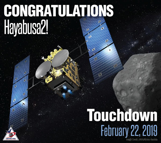 Robot Spacecraft on an Asteroid is just been landed by japan