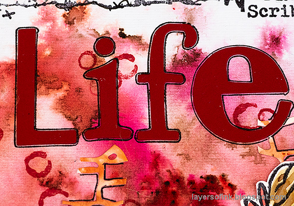 Layers of ink - Life, Art, Words Art Journal Tutorial by Anna-Karin Evaldsson.